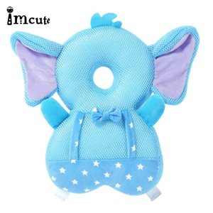 Imcute Breathable Baby Pillows Toddler Cute Anti-Fall Headrest Soft Kids Learn To Walk Anti-Collision Protection Pad Cushion LJ201208
