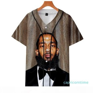 Fashion Print Nipsey Hussle Souvenir Baseball Jersey Hoodie Hot Seller Rappers T-shirt Hip Hop Art Men's and Women's Graphic Tee Y