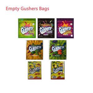 New Gushers edible bags Edible Packaging 500MG Gummies bags Tropical Sour Gushers FURIT SUPER sour Gushers