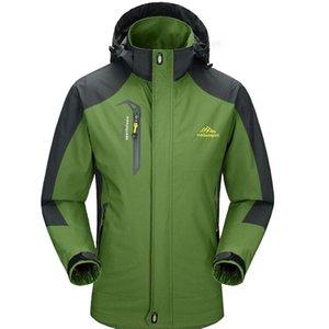 Vestes de randonnée printemps automne hommes respirants coupe-vent softshell vent-à-vent en plein air camping escalade manteaux à capuchon 6xl