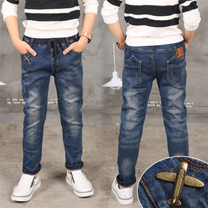 Boy Jeans Limited Сыпучие Твердая Повседневный Для мальчиков Осень Jeans, Детская мода джинсы, для возраста 3 4 5 6 7 8 9 10 11 12 13 14 год 1006