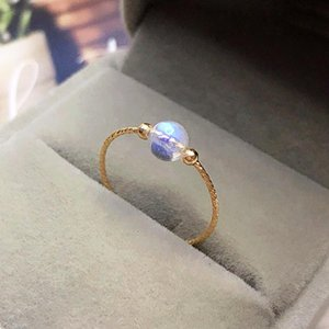 Natural Moonstone Rings 14K Gold Filled Knuckle Ring Mujer Boho Bague Femme Handmade Minimalism Jewelry Rings for Women