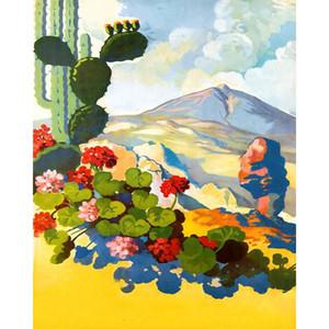 RoyalDream Landscape DIY Malerei Mit Zahlen Kits Färbung Malen nach Zahlen Moderne Wandkunst Bild Geschenk LJ201128