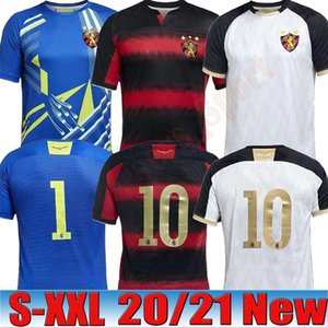 2020 2021 Brésil Sport Club do Recife maillot de football chemise rouge rayé noir Hernane SANDER football chemises camisa Recife Goleiro 20/21