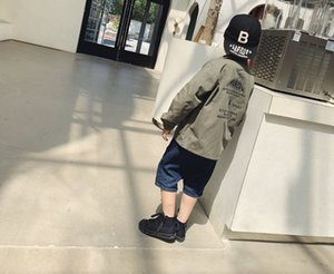 top quality kids clothes kids coat jacket trench coat children windbreakerRHI4RHI4