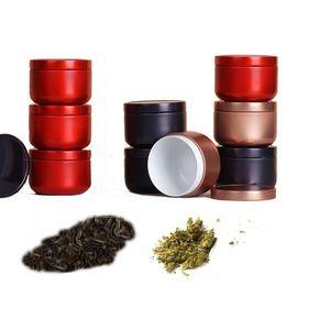 10G Mini Tinblack Tea Caddy Portable Tobacco Jar Round Color Pains Bans Candy Организатор 7 Цвета для выбора GWD3956