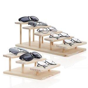 Rasalhaguer montável bambu 5 camadas opções óculos de sol stand óculos exibir jóias titular pulseira relógios Mostrar produto