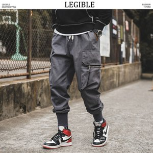 LEGIBLE Maillot Homme Pantalons Mode Hommes Joggers grandes poches cheville Sweatpants Homme Automne Salopette Sarouel Taille Plus Y1114