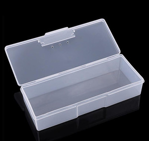 Plastic Transparent Nail Manicure Tools Storage Box Nail Dotting Drawing Pens Buffer Grinding Files Organizer Case Container Box bbyiUYy