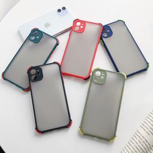 2020 New Randfarbe Stoß- Matte transparente Haut Hard Case für iPhone 12 Pro Max 11Pro SE XR XS Max 6G 7 8 Plus