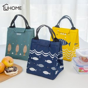 Double Face Pattern Cooler Lunch Bags Insulated Thermal Lunchbox Picnic Bag Cooler Tote Storage Bag for Home Office Outdoor