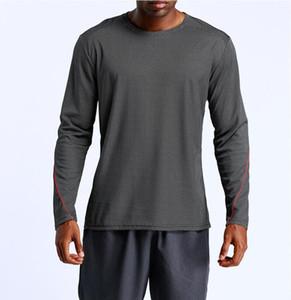 Herren Compression Sportswear Laufen Strumpfhosen T-Shirt-Ärmel lang Top Sport Stretch Transpiration Schnelltrockengymnastiktraining oben