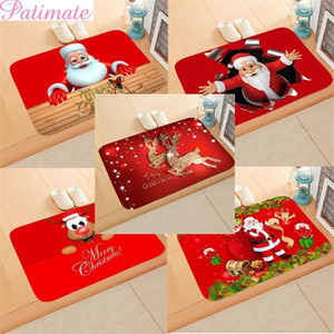 PATIMATE Christmas Flannel Carpet Happy New Year 2021 Merry Christmas Ornament Christmas Decorations For Home Xmas Gifts Y201020