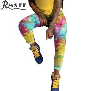 RMSFE 2020 Yeni Moda Kadın Skinny Denim Jeans Stretch Slim Uzun Pantolon Buzağı Uzunluğu Kot Casual Düğme Lady Uzun Pantolon