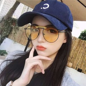 2019 NOVO QIN LAN Mesmo óculos Ele Sui Wu Xin Star Net Red Women's Co Brand Sun óculos de sol