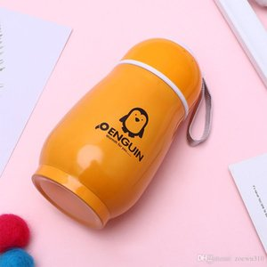 Stainless Steel Vacuum Insulated Cup Portable Penguin Cup Thermos Water Bottles Travel Office Water Bottle Student Cartoon Cups VT1546 T03