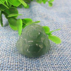 Material de esmeralda birmese natural pingente de Buddha