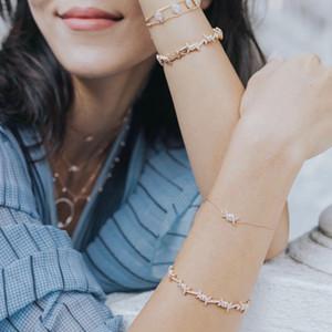 Moda 2021 New Women Jewelry Micro Pave Clear Cubic Zirconia CZ Brazalete Brazalete Brazalete Pulsera Alta Calidad al Por Mayor