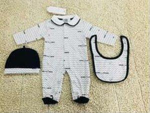 بذلة فاخرة الوليد بنات ولد الطفل الملابس قبعة رومبير المريله دعوى الملابس المصنوعة من القطن الطفل لوازم الطفل المولود مجموعة NEW