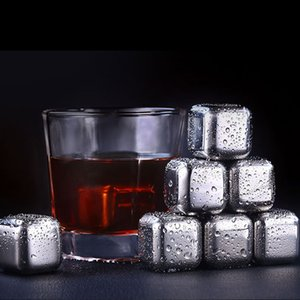 304 Stainless Steel Reusable Ice Cubes Chilling Stones for Whiskey Wine Bar Keep Your Drink Longer Cold