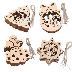 Christmas Decoration pendant wooden handicraft DIY small gift home party Christmas decoration