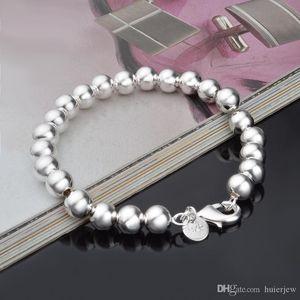 Uomini Hollow braccialetti in rilievo del rame placcato chic gioielli lucido di fascino della sfera braccialetti del braccialetto imitazione Argento 925 Bracciale