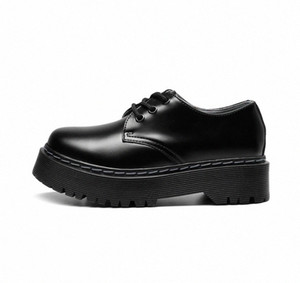 Doc Oxford Shoes for Women Bright Genuine Leather Platform Martens Women Punk Shoes Thick Bottom Motorcycle Dr Mujer 41 #sI4H