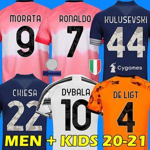 RONALDO DYBALA CHIESA 20 21 Juventus camiseta de fútbol DE LIGT camiseta de fútbol MORATA KULUSEVSKI ARTHUR juventus soccer Jersey 2020 2021 BERNARDESCHI football shirt