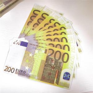 Euro Sahte Para Banknot Sahte Para Kağıt 200 Euro Bills Fiyat İş Hediyeler oyunu Oyuncaklar Koleksiyonu için