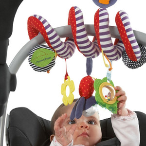 Stroller Accessories Baby Spiral Toy Crib Stuffed Car Seat Funny Hanging Rattles Toy Bed Around Beby ded Pendant Rattle Teether 201026
