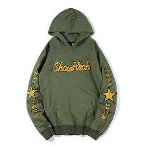 Off Hot Sale New Arrival Full None Cotton Casual Hooded Hip Hop Hoodies Men 2019 Cap Coat Letter Printing Leisure Loose Guard