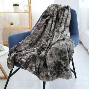 Faux Fur lançar cobertor Hipoalergênico Blanket para sofá-cama Super Soft Light Weight Luxurious aconchegante e confortável Fluffy Plush Blanket
