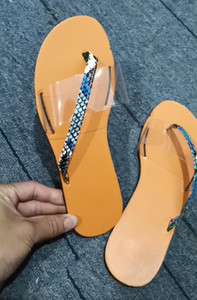 여성 여름 샌들 슬리퍼 Transpare 플러스 사이즈 순전히 보헤미안 스타일 오픈 발가락 섹시한 클럽 슬립 온 플랫 샌들 플랫 신발 패션