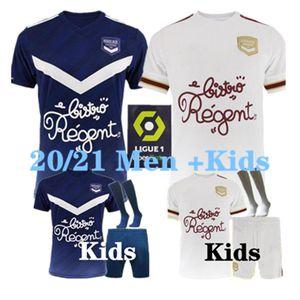 20 21 Girondins de Bordeaux Ben Arfa 축구 유니폼 2020 2021 Maillot de Foot Briand S.Kalu Kamano 홈 멀리 남성 키즈 기본 축구 셔츠