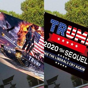 BrrI Moda Biden Car Bandiera 45 * 30cm Finestra US Stampa Elezione presidenziale Pennone Flag Car 2020 Bandiera Trump DDA556