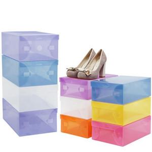 Nouveau multifonction chaussures en plastique transparent Boot Boîte Shoebox Chaussures Tiroir de rangement Cabinet Rack Home Organisateur Container