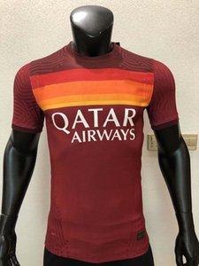 плеер версии 20 21 Рома футбол Джерси Джеко PASTORE Строотман Zaniolo TOTTI FLORENZI 2020 2021 футболист жесткой рубашки