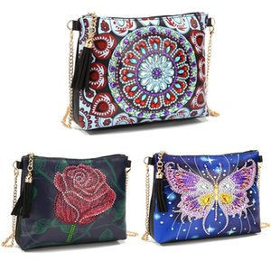 DIY 5D Diamond Painting Crossbody Bag Wallet Special Shaped Drill Cross Stitch Handbag Purse Embroidery for Girl Women Craft 201112