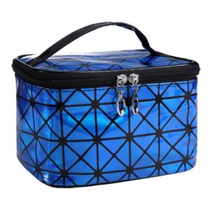 Portátil Cosmetic Bag Waterproof Maquiagem Marca Up Wash Organizador Zipper Bolsa de armazenamento Folding Viagem Kit de Design de Moda Bolsa