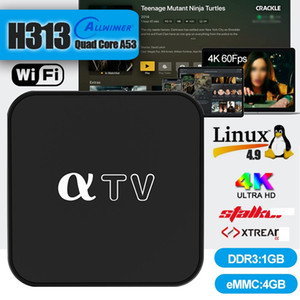 aTV Linux 4.9 Set Top Box Allwinner H313 Chipset 1GB+4GB Support 2.4G Wifi 4K HDR PK Android TV Box MAG Box
