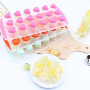 Formas de frutas Bandejas de cubitos de hielo Fácil de liberación de silicona Pan de silicona Moldes de chocolate Maker Jelly Molde Heart Star Lip Coolers Barware EWD2555