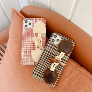 Designer phonecase IPhone 11 Fall Retro Art Plaid-Hornknopf-Telefonkasten für IPhone 11Pro / MAX / XS