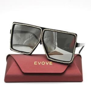 Evove Rhinestone Güneş Kadınlar Büyük Boy 150mm Güneş Gözlükleri Kadın Elmas DIY Ins Moda Kadın Shades Bayanlar Lüks için
