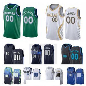 2021 Homens personalizados Mulheres Juventude Dallas City Team 77 Doncic 41 Nowitzki 5 Kidd 13 Nash Qualquer nome e número Swingman City Jersey