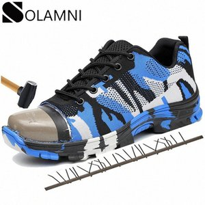 Big Size 36 48 Mens Work Shoes Safety Unisex Steel Toe Industrial Shoes Camo Breathable Mesh Sneakers Outdoor Hiking Boots Male MWeW#