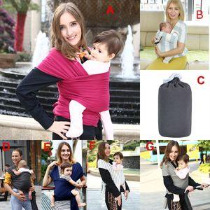 Multifuncional infantil lactancia materna sling baby rayado envoltura portador mochila bolsa niños amamantando cuatro temporadas adecuado 7 colores DHL C4373