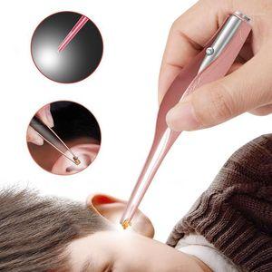 1 pz orecchie non ferite orecchio Dig Glow Glow Earplug Cera Remover Tweezers Ear Artifatto Artifatto Illuminazione Clip Tweezers 3 Color1