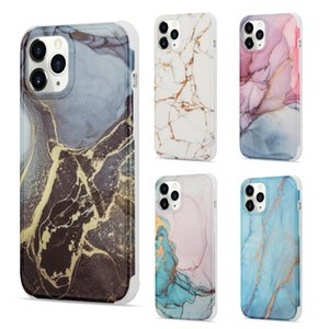 Gold Sparkle Glitter Marble Slim Shockproof TPU Soft Phone Case for iPhone 12 Mini 11 Pro XS Max XR X 7 8 Plus