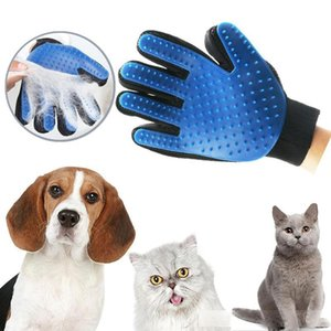 Pet hair glove Comb Pet Dog Cat Grooming Cleaning Glove Deshedding left Right Hand Hair Removal Brush Promote Blood Circulation 0031PET