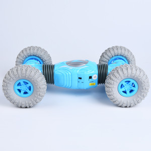 RC Car Four-Wheel Drive Climbing Off-Road Vehicle Stunt Car One-Button Deformation 2. Children Remote Contro LJ200919